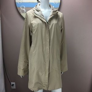 Fendi Trench Coat Full Zip Lined Hooded Size XL